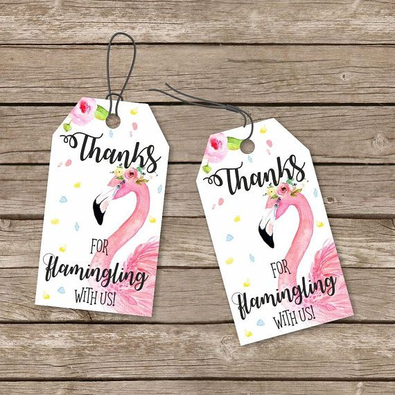 Flamingo Tags Flamingo Printable Thank You Tags Flamingo Thank You Favor Tags Flamingo Birthday Invitations Flamingo Party Favors Baby Shower Thank You Gifts