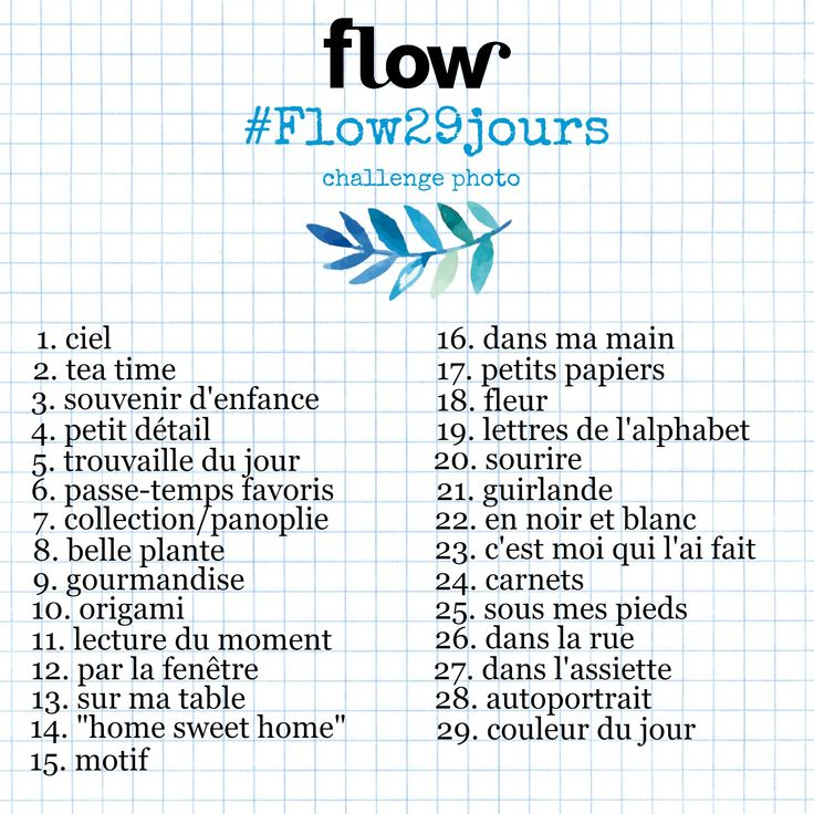 Challenge photo Février Flow magazine