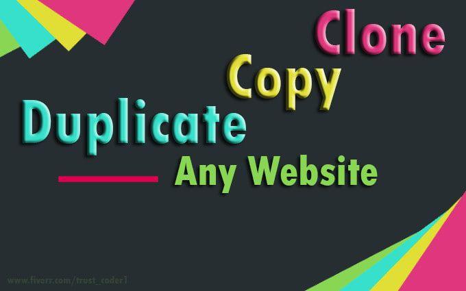 Clone Copy Or Duplicate Any Website Wordpress Website Design Wordpress Website Website Design