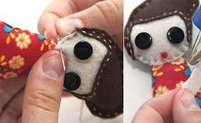Resultado de imagem para boneca de pano olhos grandes