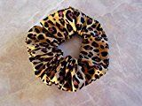 Wild Leopard Hair Scrunchie 100% Cotton