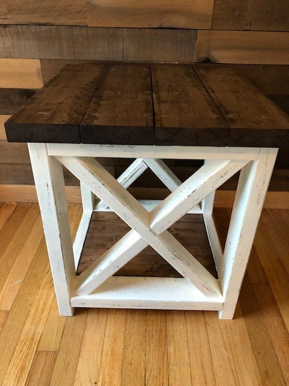 Farmhouse Style End Table In 2018 Projects Pinterest Farmhouse