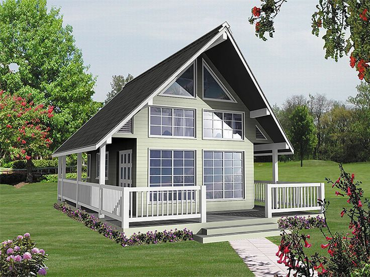 010H 0001: A Frame House Plan Makes Nice Weekend Retreat