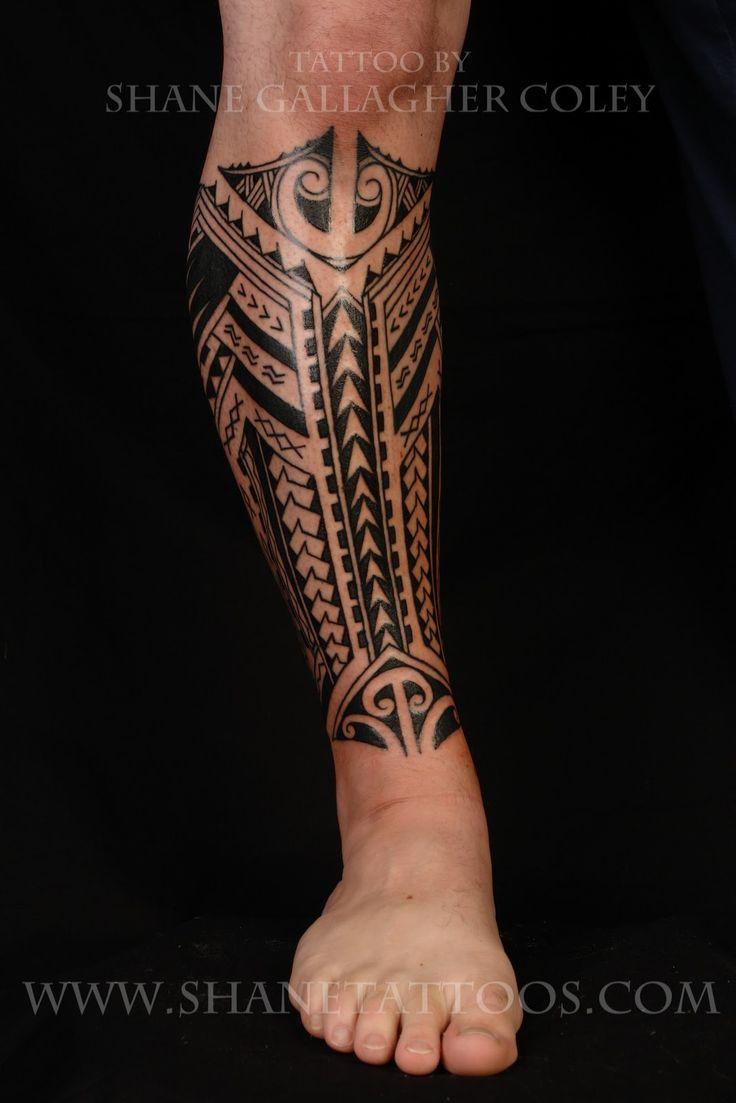 Samoan Tattoos | Polynesian/Samoan Calf Tattoo