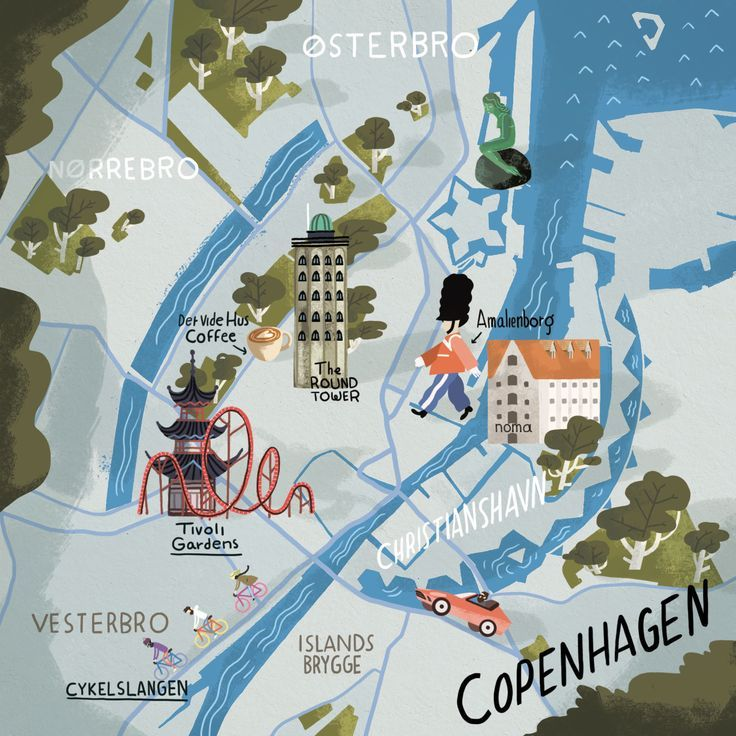 64 best maps images on pinterest cartography old maps and steve mccarthy map of copenhagen sciox Gallery