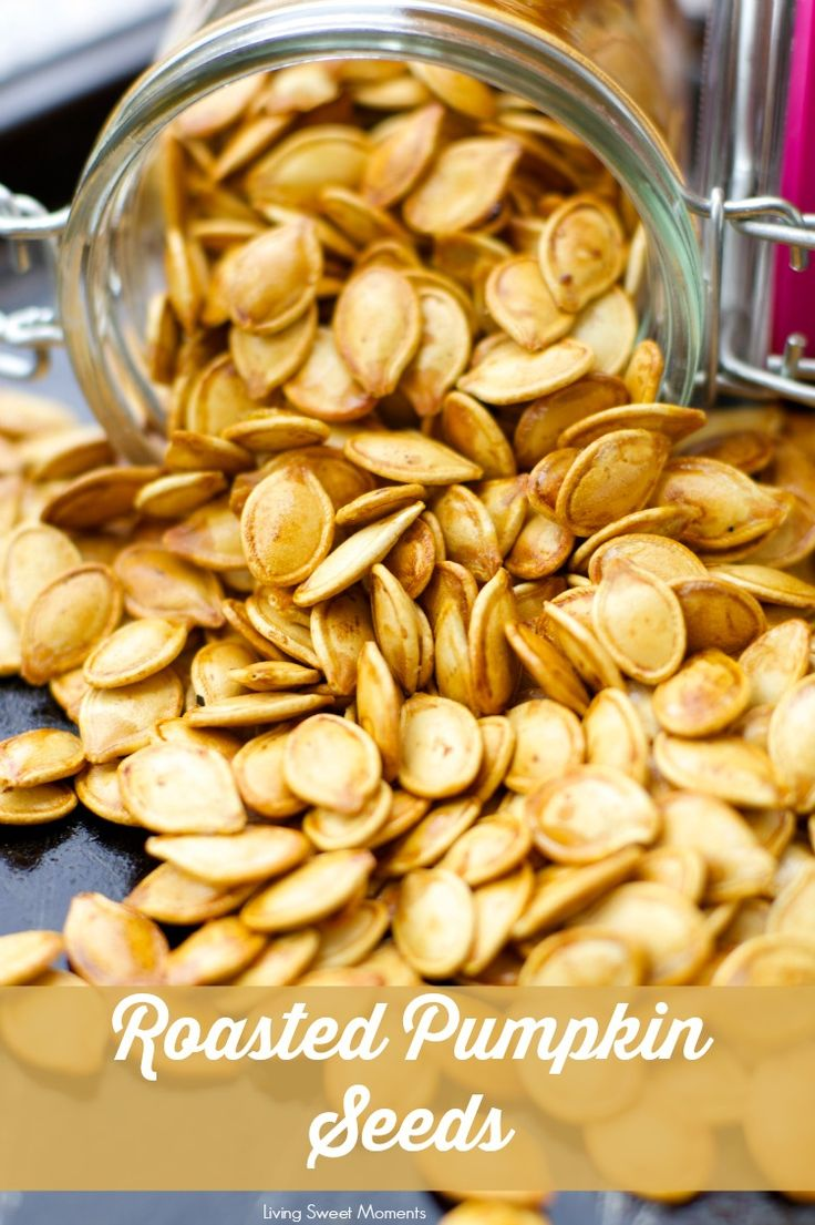 Roasted Pumpkin Seeds Recipe- don't know what to do with the seeds after you carve that pumpkin? Create a healthy crunchy snack with the seeds. Easy and delish!