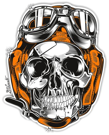 Skull & Pistons - Harley Davidson - US by DAVID VICENTE, via Behance