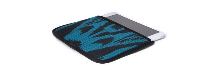 Чехол для Apple iPad Mini, бирюзовый с черным в черной окантовке