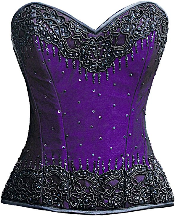 Rich, royal purple under hand beading, does it get more glamorous? The Violet Vixen - Burlesque Glimmer Purple Beaded Corset, $184.00 (http://thevioletvixen.com/corsets/burlesque-glimmer-purple-beaded-corset/) steel boned authentic corset purple hand beading burlesque glamour bling