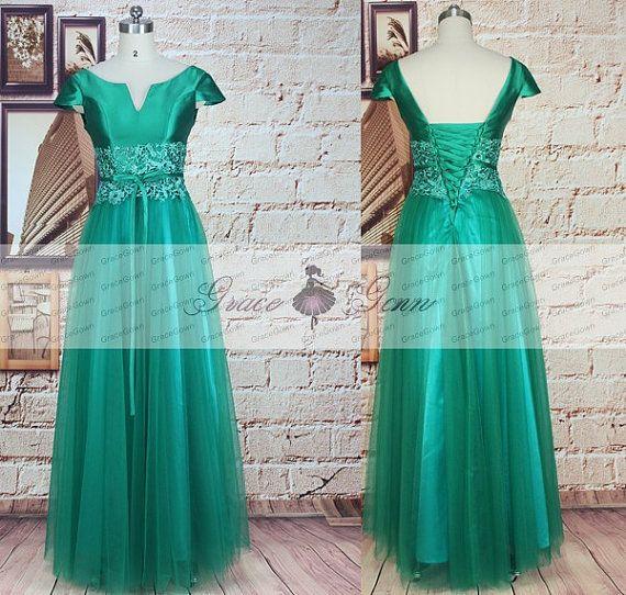 Binde-Prom Kleider Smaragd Grün Prom Dress 2016 von GraceGown