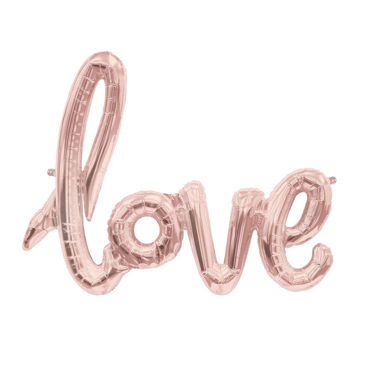 Foil Balloon Banner - Love