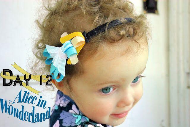 Day 12: Alice in Wonderland Disney Inspired Princess Ribbon Sculpture Pattern