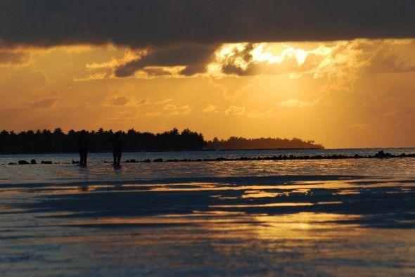Top 10 Wallpaper: Sonnenuntergang auf den Malediven