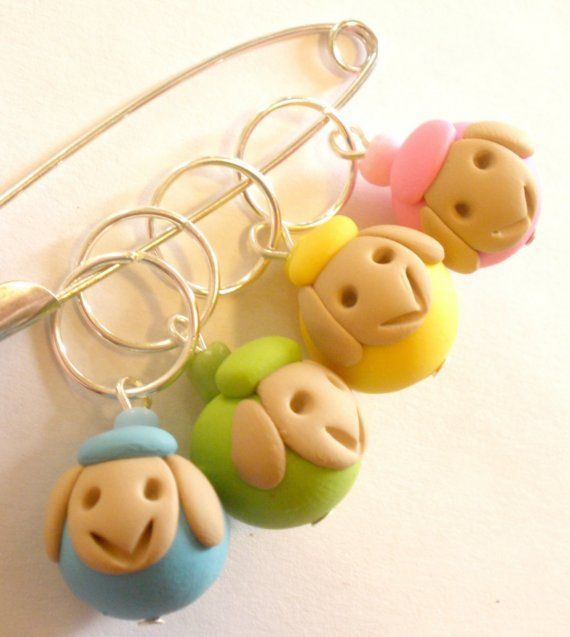Yarn Sheep- Stitch Markers / for knitting needles