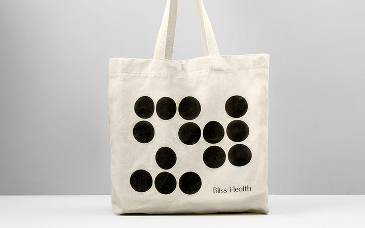 Bliss Health tote bag design by Anagrama.