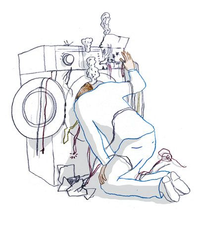 Dryer Repair Man Clip Art
