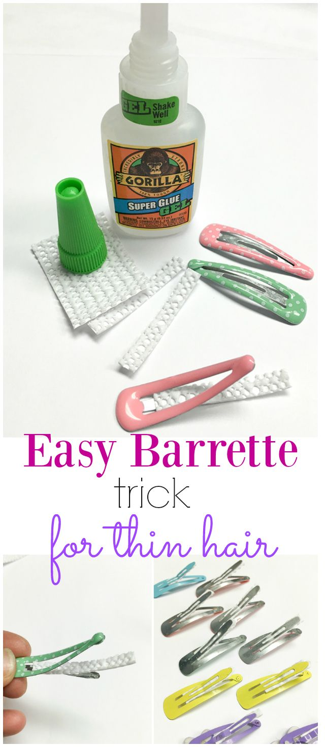 The best way to keep inexpensive barrettes from slipping out of baby fine hair…