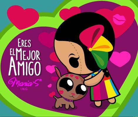 """Diseño mexicano e ilustración: """"Eres el mejor amigo"""". María'sINC"""