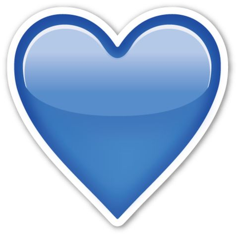 Blue Heart | EmojiStickers.com