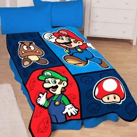 This blanket is soft and cozy and looks great on our twin size beds. The boys love it!