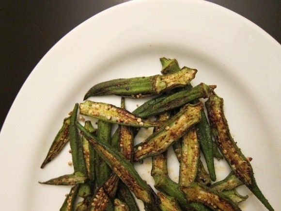 Will try: Skillet-Roasted Spiced Okra | Yummy Food | Pinterest