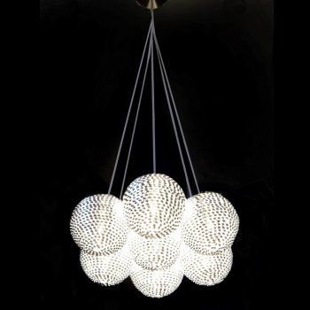 Arrow 7 Light Ceiling Pendant Light finished in Silver
