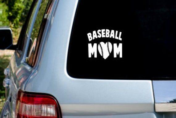 Car Decal Laptop Decal Baseball Mama Vinyl Sticker Decal