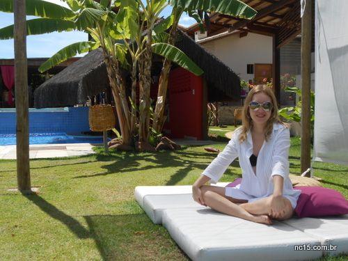 Meu look moda praia com saída de banho tipo chemise comprada na riachuelo, biquíni Água de Coco e óculos Tom Ford