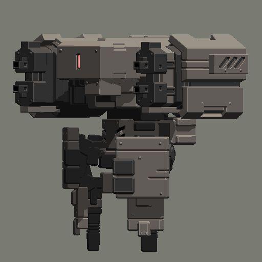 pixel mecha 3d