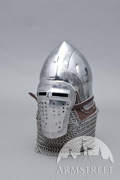 Casque médiéval décapé bassinet italien avec visage étroit d'ArmStreet
