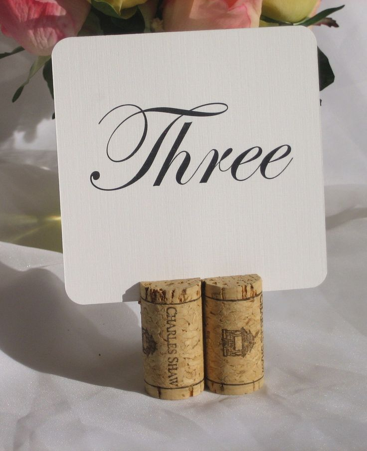 Table number holder with wine cork!