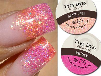 Pink Acrylic Nail Designs   PREMIXED GLITTER ACRYLIC NAIL POWDER / PERKY PINK DESIGNER MIX