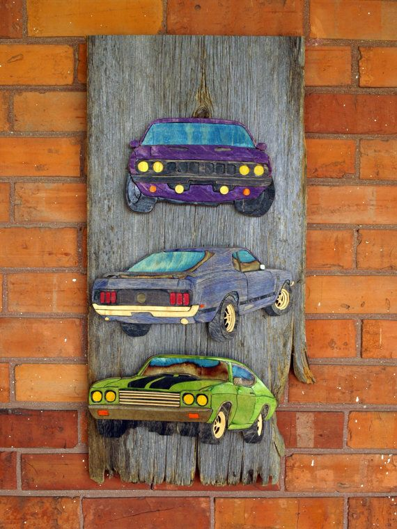 Skate Art  Puzzle Art  American Muscle Cars by SecondShot on Etsy