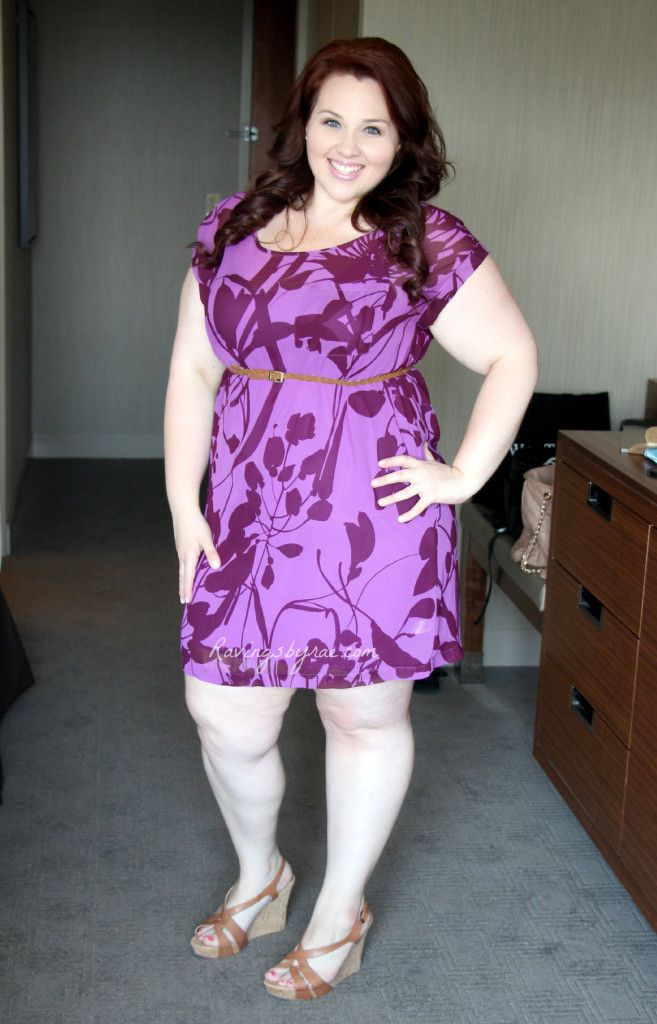 Cute! Plus Size OOTD: Casual Purple Party Dress #PlusSize #OOTD #Fatshion