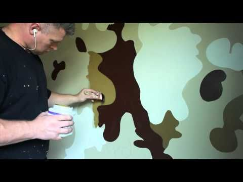 Boys bedroom Ideas Army Military Camouflage Room.  How to paint camo. Someday I'll need this for a play house.