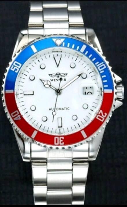 #Winner #orologio in #acciaio 38 mm rosso blu