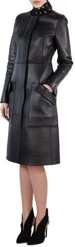 Akris Marius Napa Leather Jacket, Black