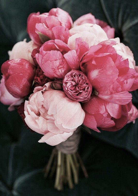Wake Up And Smell The Peonies Loving This Gorgeous Pink Wedding Bouquet Love Bright Color