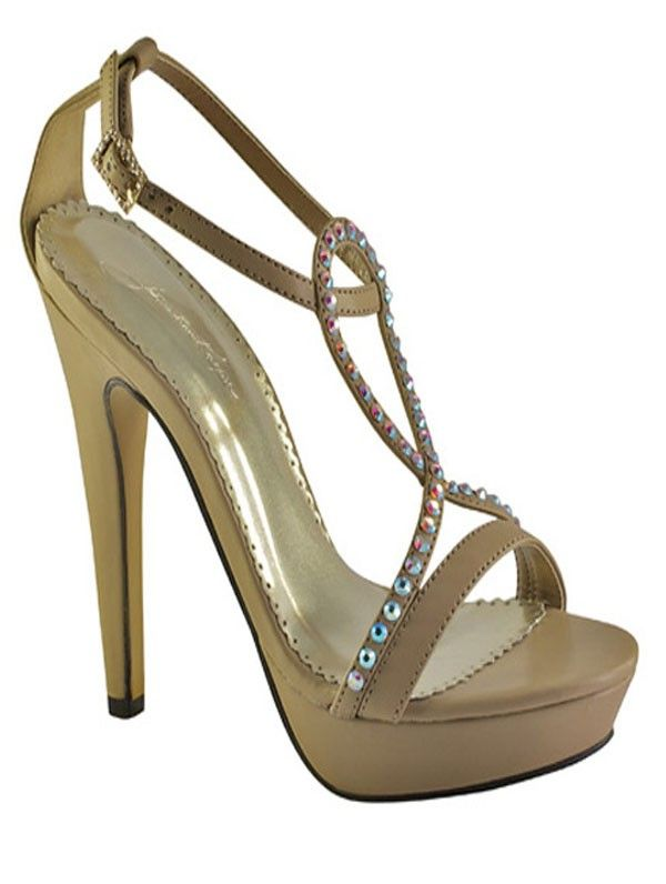 Taupe Monroe Johnathan Kayne Prom | Pageant Shoes heels sandals crystals www.imagebridal.com.