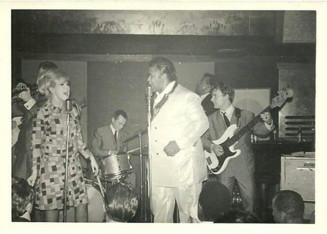Dusty Springfield and Solomon Burke at London's Flamingo Club, 1965