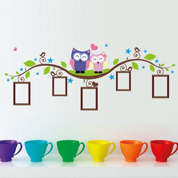 DIY Owl Photo Frame Removable Wall Decal Sticker Home Decoration #DIYDecor #diy #decoration #homedecor #wallpaper