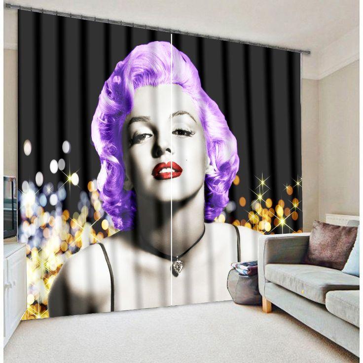 Современная роскошь Elegent красивая мэрилин монро 3D затемненные шторы для постельные принадлежности номера гостиной отеля шторы Cortinas пункт сала