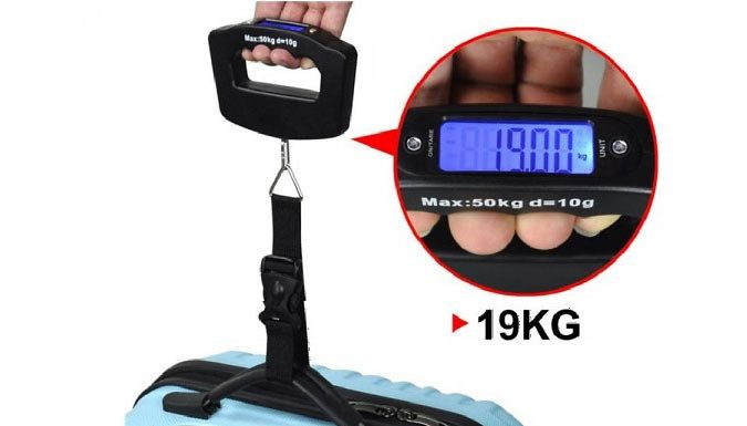 Buy Set of Two 50KG Digital Travel Scales for just £6.99 Know what you have to leave behind with this set of 2 50KG Digital Travel Scales      A set of 2, keep a spare or give ot away to a fellow traveller      Easy to use and to hold as you weigh your luggage      Avoid excess baggage charges      Suitable for small or large suitcases      Just wrap the strap around the luggage handle and...
