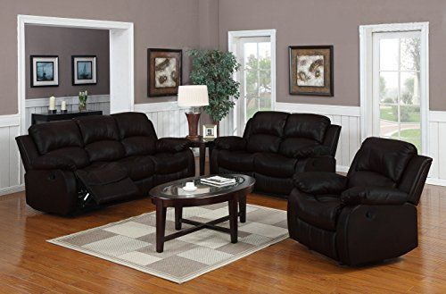 This bonded leather recliner sofa set features a classy traditional design. Our bonded leather sofa set comes wrapped in carefully selected durable bonded leather upholstery. They include an unique design that allows for full reclining and provides ultimate comfort. This rocking sofa set has an... more details available at https://furniture.bestselleroutlets.com/living-room-furniture/living-room-sets/product-review-for-traditional-classic-reclining-sofa-set-real-grain-leather