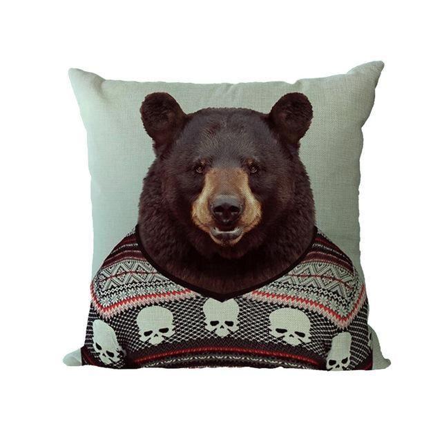 Cushion Cover Printed Designer Cushion Covers Shabby Chic Home Decor Bean Bag Filler Sofa Cover Scandinavian Decor Palmier
