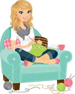 Crochet/knit girl for blog