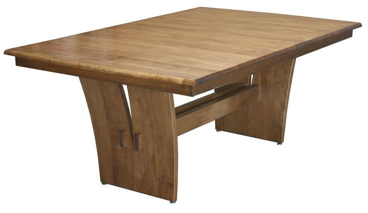 Amish Delphi Trestle Dining Room Table is a modern style trestle table that shows off its natural wood.
