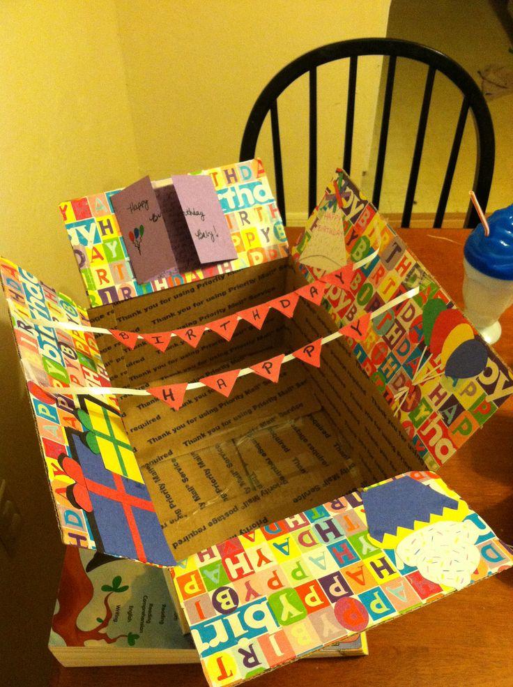 Birthday care package for my boyfriend. ~Kathryn