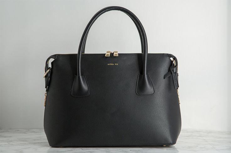 Angela & Roi Moa Black Vegan Tote fighting Melanoma – Angela Roi | Modern Classic Designer Handbags