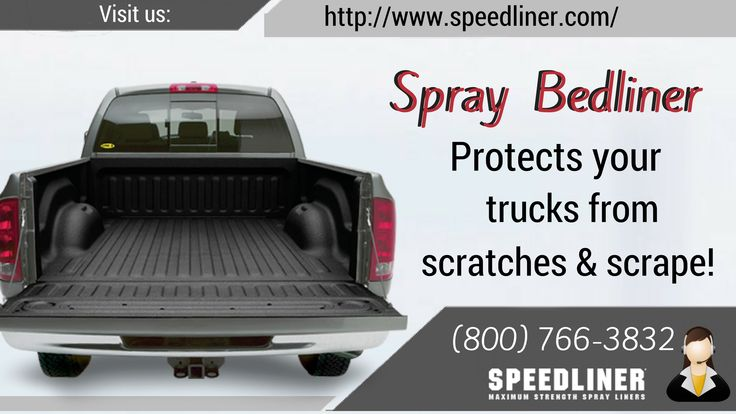 Do you want to shield your truck bed from scratches, scrapes, dings? We have custom fit spray on bed-liner which has non-slip surface and protects your truck from corrosion. To order call (800) 766-3832!